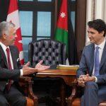 فلسطين وسوريا والتعاون المشترك تتصدر مباحثات العاهل الأردني في كندا
