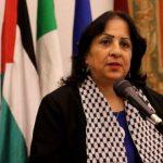 وزيرة الصحة الفلسطينية تتسلم مساعدات طبية سعودية
