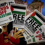 شاهد.. مظاهرة غاضبة في لندن ضد ترامب وأردوغان دعمًا لفلسطين وسوريا