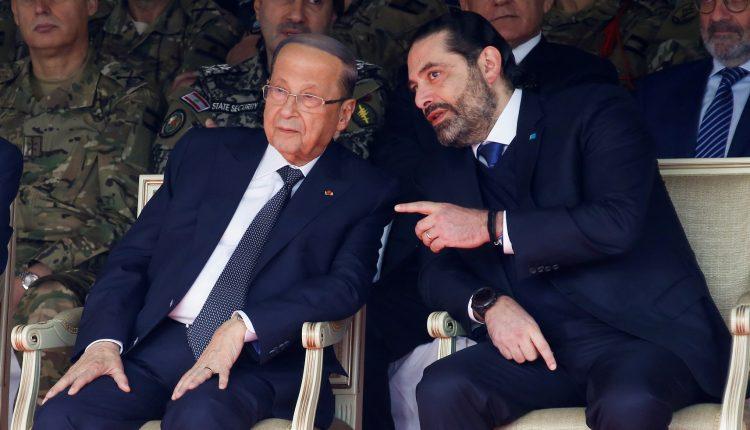 رئيس حكومة تصريف الأعمال سعد الحريري والرئيس اللبناني ميشال عون - أرشيفية