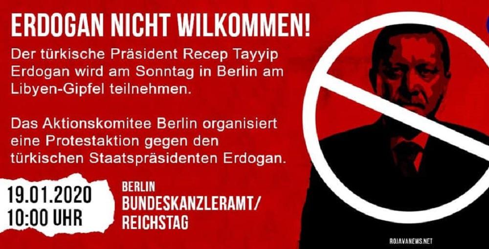 دعوة المظاهرات التي نظمها ليبيون وأكراد في برلين ضد جرائم أردوغان