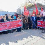 الجبهة الديمقراطية تنظم مسيرة احتجاجية في غزة رفضا لصفقة القرن