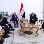 برهم صالح يبحث مع وزير الخارجية التركي تجنيب العراق الصراعات والحروب