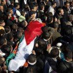 الفلسطينيون يشيعون جثمان الشهيد بدر نافلة في طولكرم