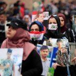 مظاهرة نسائية في النجف دفاعا عن دور المرأة في الاحتجاجات