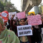 احتجاجات على قانون الجنسية في نيودلهي مع وصول ترامب