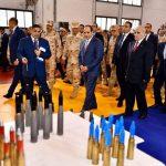 الرئيس المصري يفتتح مصنعًا لإنتاج الذخائر للقوات المسلحة