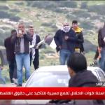 برغم من دخول اتفاق الهدنة حيز التنفيذ.. الاحتلال الإسرائيلي يقمع مسيرات لدعم الأغوار