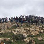 إصابة عشرات الفلسطينيين جراء اقتحام الاحتلال جبل العرمة جنوب نابلس