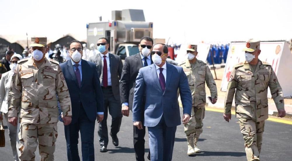 الرئيس المصري عبد الفتاح السيسي - كورونا 1