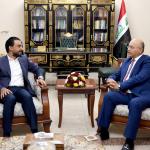الرئيس العراقي يبحث مع رئيس مجلس النواب التطورات السياسية والصحية