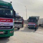 الهلال الأحمر المصري يرسل قافلة مساعدات طبية إلى فلسطين