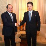 السيسي ورئيس وزراء إيطاليا يبحثان مستجدات القضية الليبية