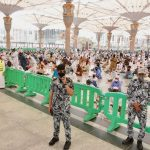 إجراءات حازمة في المسجد النبوي لمواجهة كورونا