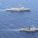 القوات البحرية المصرية والإسبانية تنفذان تدريبا بحريا عابرا بالبحر الأحمر