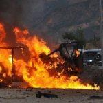 قنبلة تصيب مركبتين تابعتين للحرس الثوري الإيراني