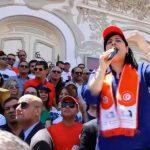 وقفة احتجاجية في تونس ضد الإخوان.. وكلمة نارية للنائبة عبير موسي