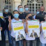 وقفة في رام الله للتضامن مع محافظ القدس ومدير المخابرات بعد اعتقالهما