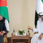 ملك الأردن وولي عهد أبو ظبي يتفقان على خطورة مخطط الضم