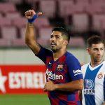 سواريز يقود برشلونة للفوز وتأكيد هبوط إسبانيول