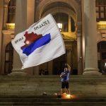 الآلاف ينضمون إلى الاحتجاجات المناهضة للحكومة في العاصمة الصربية