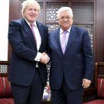 جونسون يؤكد للرئيس الفلسطيني ثبات موقف بريطانيا ضد الضم