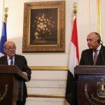 وزيرا خارجية مصر وفرنسا يعبران عن دعمهما لمؤسسات تونس