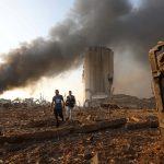 اندلاع حريق في ساحة ببيروت وسط احتجاجات على انفجار الميناء