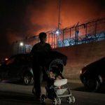 اندلاع حريق في مخيم موريا المكتظ باللاجئين في اليونان