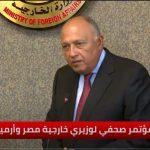 وزير الخارجية المصري: ندعم كل الجهود الرامية لحل الأزمة الليبية