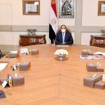 الرئيس المصري يبحث ملفات عدد من مشروعات التطوير والتنمية