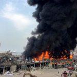 الصليب الأحمر: حريق مرفأ بيروت اندلع في مستودع يخزن فيه حصصا غذائية
