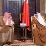 وزير الخارجية السعودي يبحث التطورات الإقليمية مع نظيره البحريني