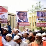 عشرات آلاف البنجلادشيين يتظاهرون ضد فرنسا في دكا