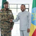 رئيس مجلس السيادة الانتقالي السوداني يختتم زيارته لأثيوبيا