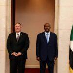 البرهان يبحث مع بومبيو ترتيبات رفع السودان من قائمة الإرهاب