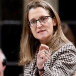 نائبة رئيس الوزراء الكندي في الحجر بانتظار نتائج اختبار كورونا