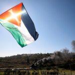الفلسطينيون يتظاهرون ضد زيارة بومبيو للمستوطنات