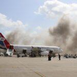 مصادر أمنية: مقتل 5 وإصابة العشرات في هجوم مطار عدن باليمن