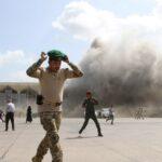 أول تعليق من الحكومة اليمنية بعد الهجوم على مطار عدن