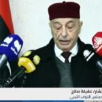 عقيلة صالح: خلق مسارات موازية يهدد التسوية السياسية في ليبيا