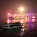 سماء القاهرة تتلألأ بالألعاب النارية احتفالاً بالعام الجديد
