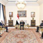 الرئيس المصري يبحث سبل تفعيل اتفاقية التجارة الحرة القارية الأفريقية