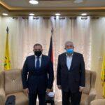 العالول يبحث مع السفير المصري التحديات التي تواجه القضية الفلسطينية