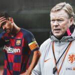 كومان يطالب لاعبي برشلونة بتقليل الاعتماد على ميسي