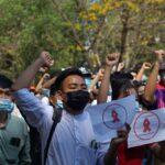 أكثر من ألف شخص يتظاهرون في رانغون ضد الانقلاب في ميانمار