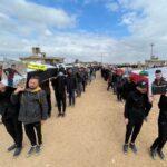 صور  إعادة دفن رفات أكثر من 100 إيزيدي قتلهم داعش بالعراق