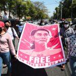 صور| تجدد المظاهرات ضد الانقلاب في ميانمار