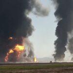 60 مصابًا في حريق ضخم على الحدود الأفغانية الإيرانية