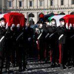 صور| جنازة رسمية وشعبية للسفير الإيطالي في الكونغو الديمقراطية